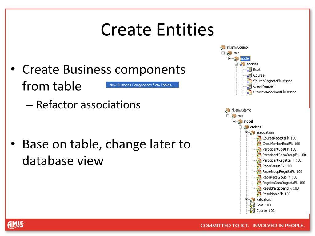Create Entities
