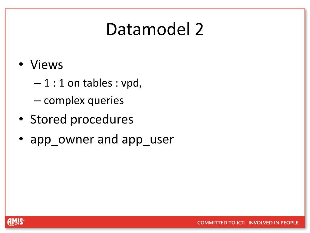 Datamodel 2