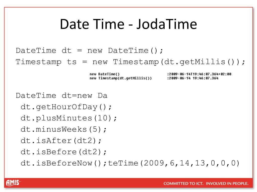 Date Time - JodaTime