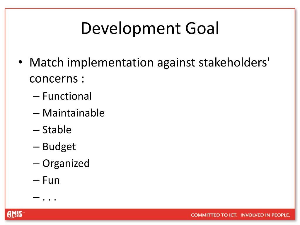 Development Goal