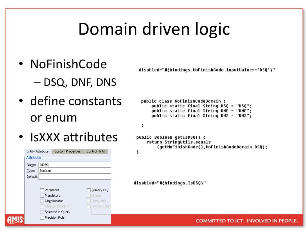 Domain driven logic