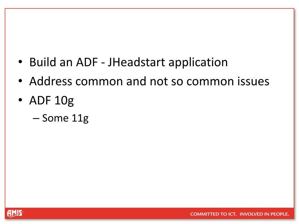 Build an ADF - JHeadstart application