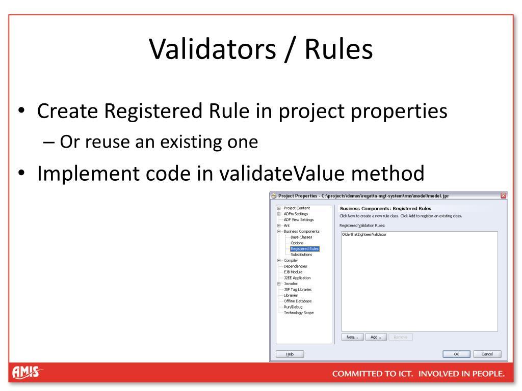 Validators / Rules