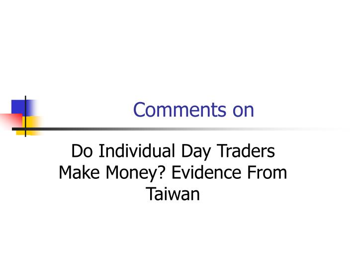 Comments on