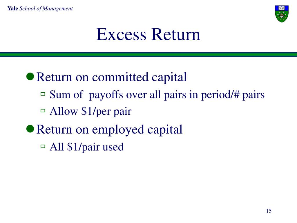 Excess Return
