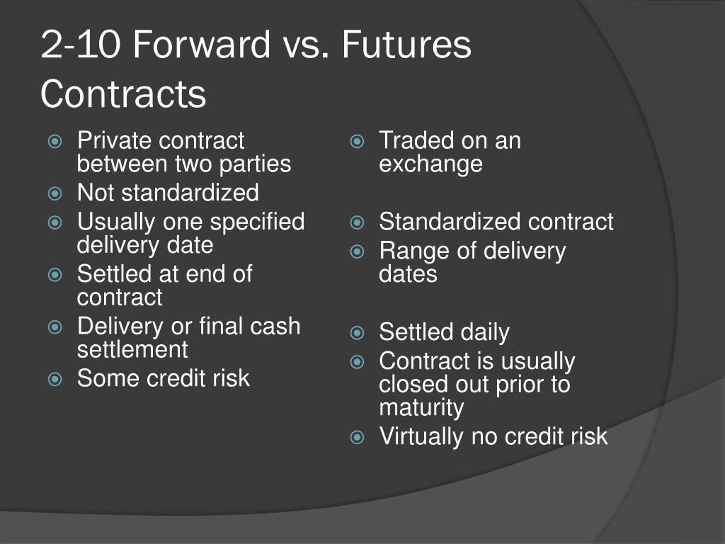 2-10 Forward vs. Futures Contracts