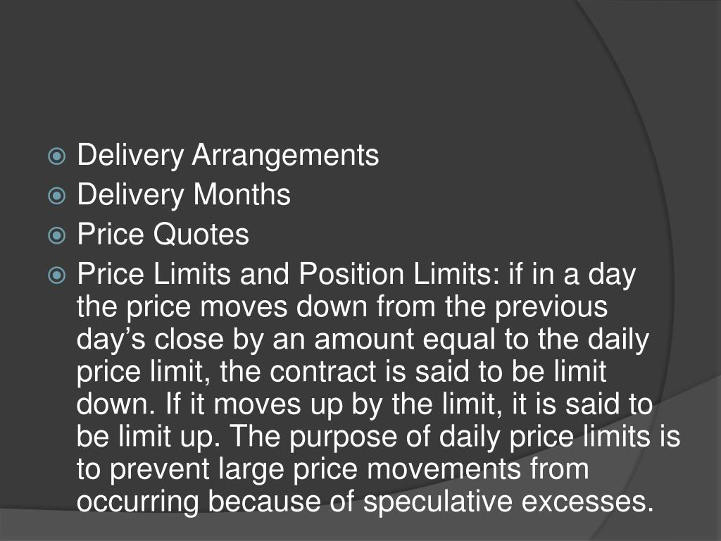 Delivery Arrangements