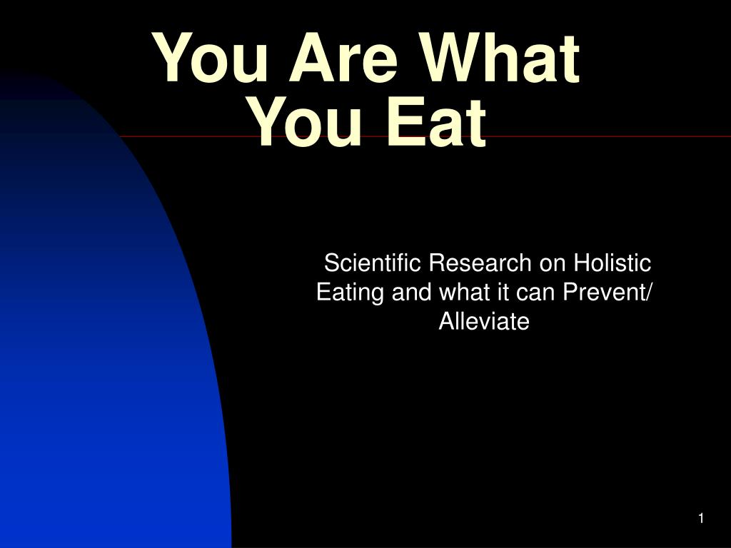 you are what you eat l.