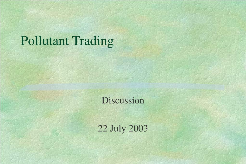 pollutant trading l.