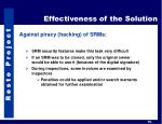 effectiveness of the solution1