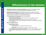 effectiveness of the solution3