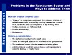 problems in the restaurant sector and ways to address them