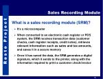 sales recording module