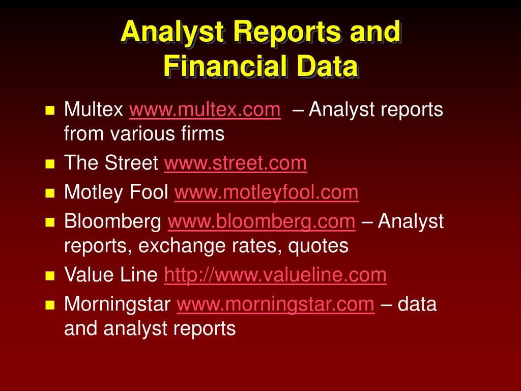 Analyst Reports and