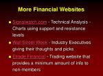 more financial websites