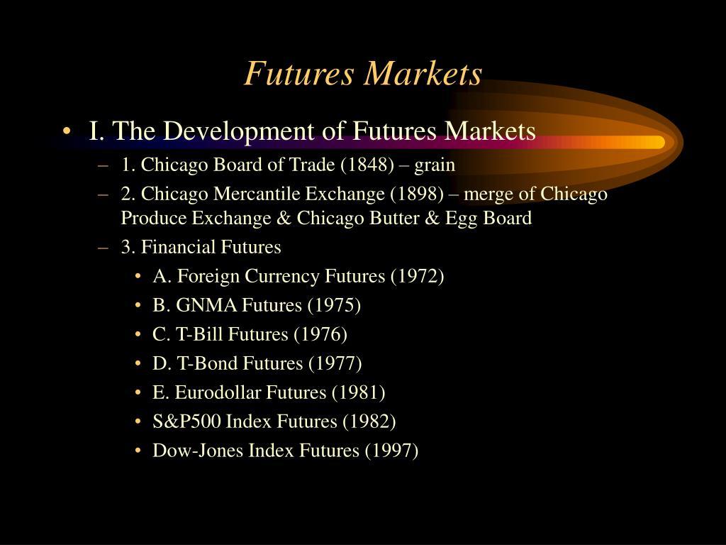 futures markets l.