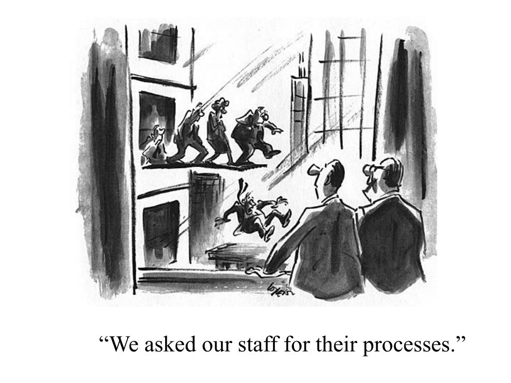 """We asked our staff for their processes."""
