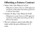 offsetting a futures contract