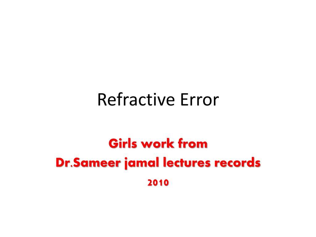 refractive error l.