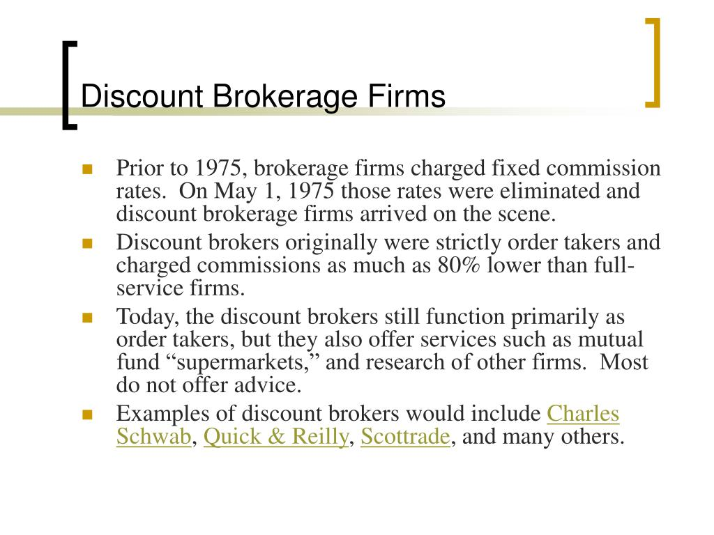 Discount Brokerage Firms