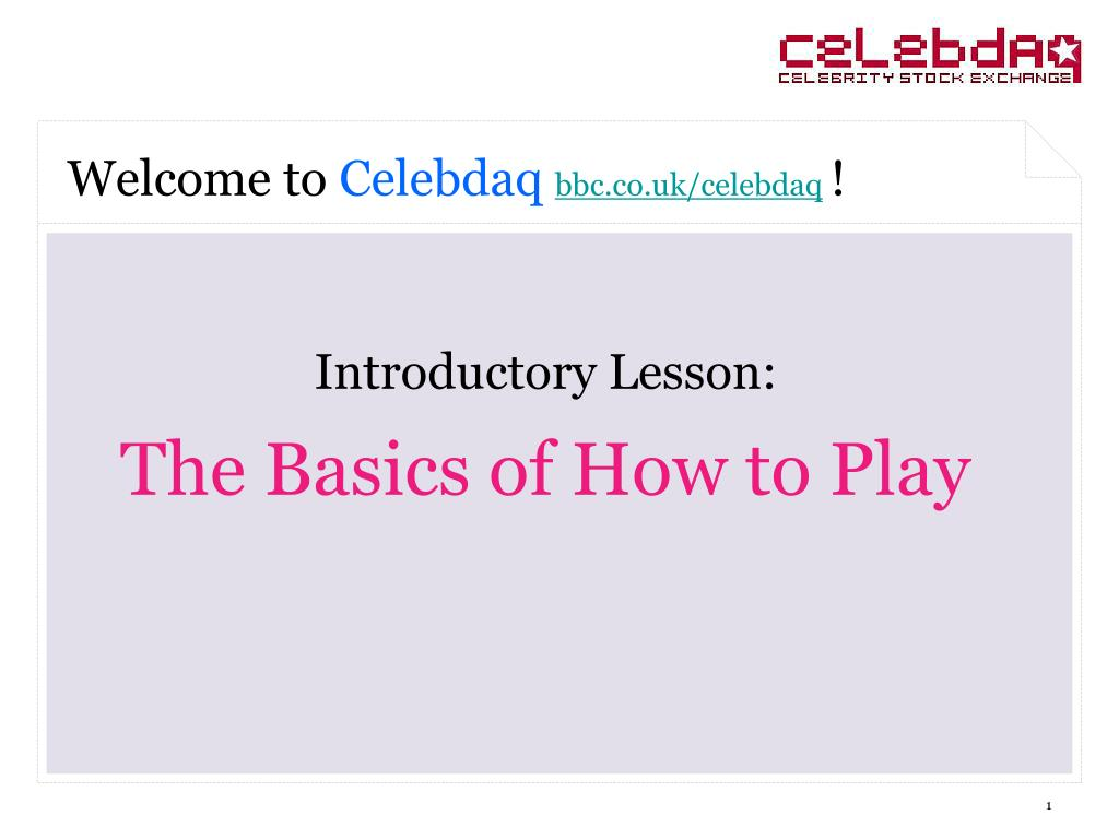 introductory lesson the basics of how to play l.