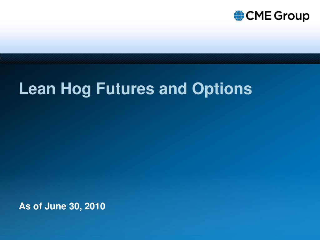 lean hog futures and options l.