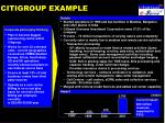 citigroup example