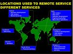 locations used to remote service different services
