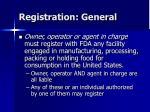 registration general