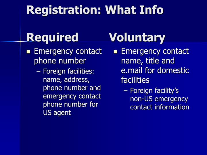 Emergency contact phone number