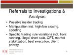 referrals to investigations analysis