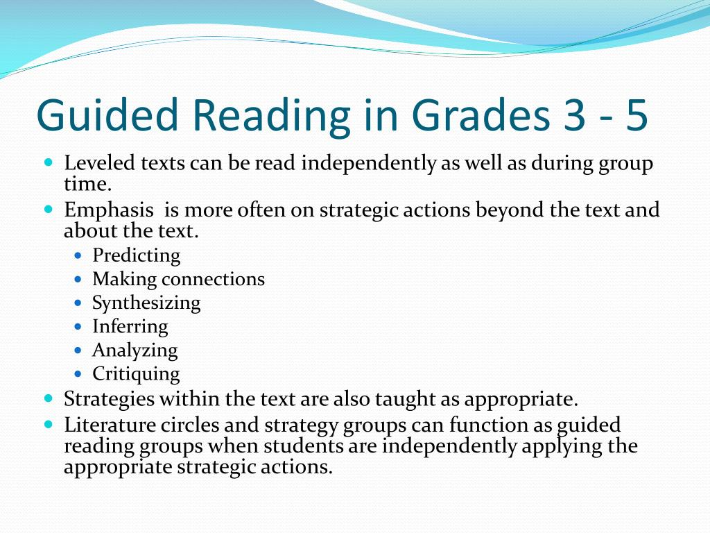 Guided Reading in Grades 3 - 5