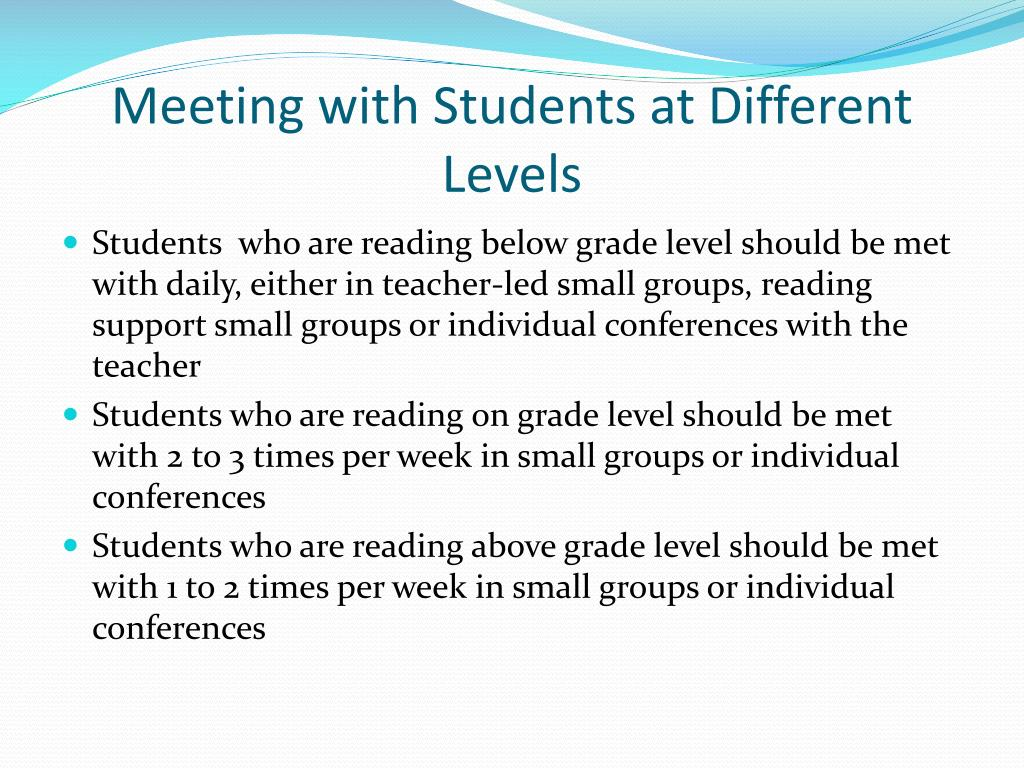 Meeting with Students at Different  Levels