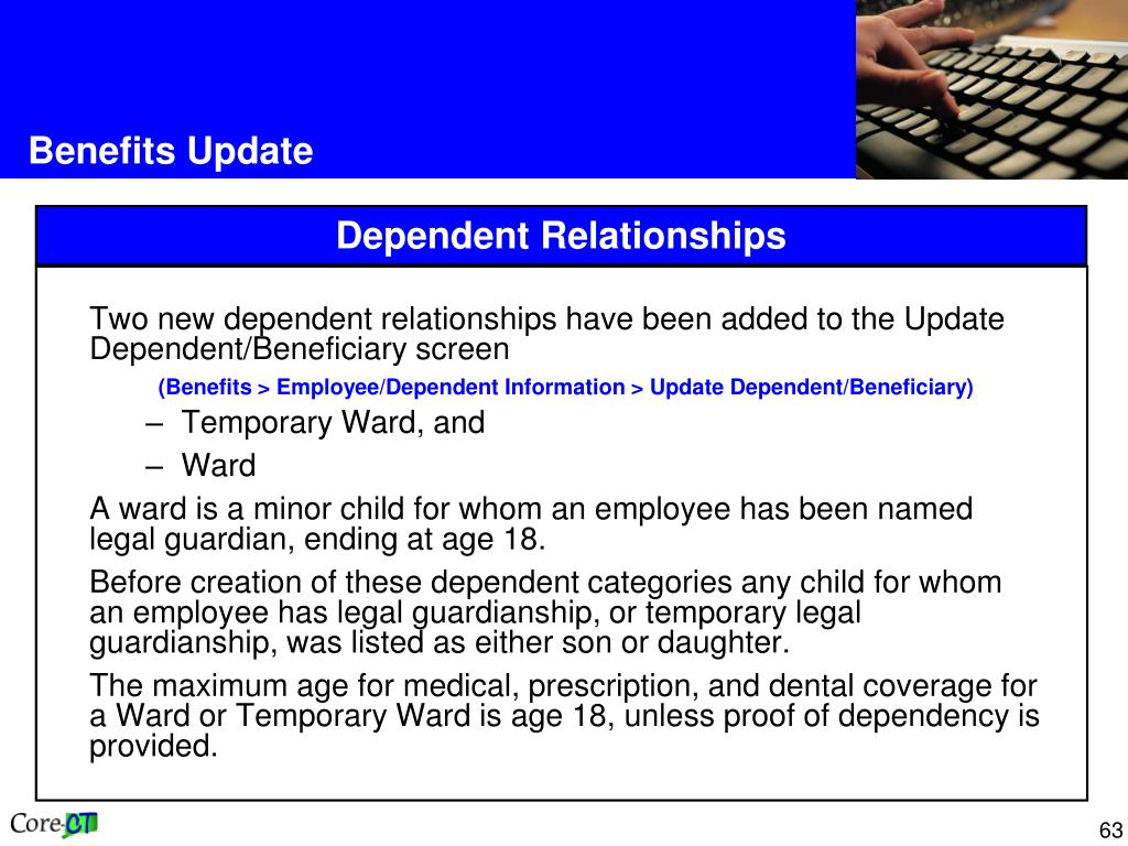 Two new dependent relationships have been added to the Update Dependent/Beneficiary screen
