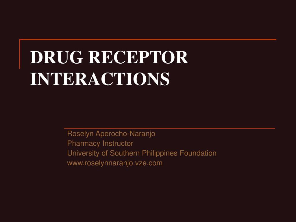 drug receptor interactions l.