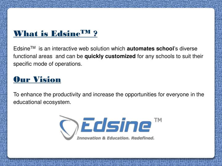What is Edsine