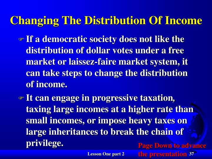 Changing The Distribution Of Income