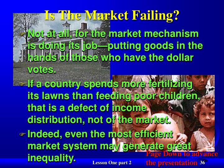 Is The Market Failing?