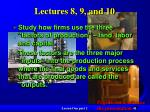 lectures 8 9 and 10
