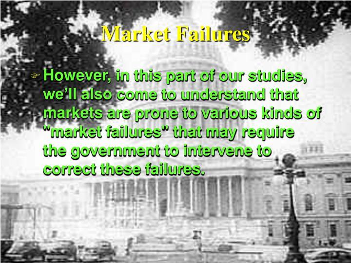 Market Failures