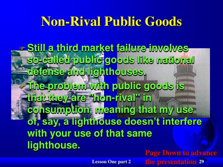 Non-Rival Public Goods