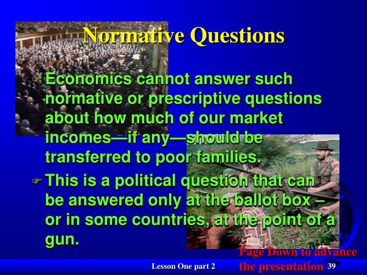 Normative Questions