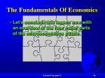 the fundamentals of economics