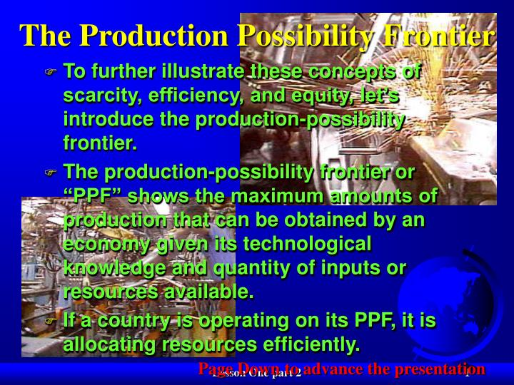 the production possibility frontier n.