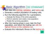 basic algorithm no crossover