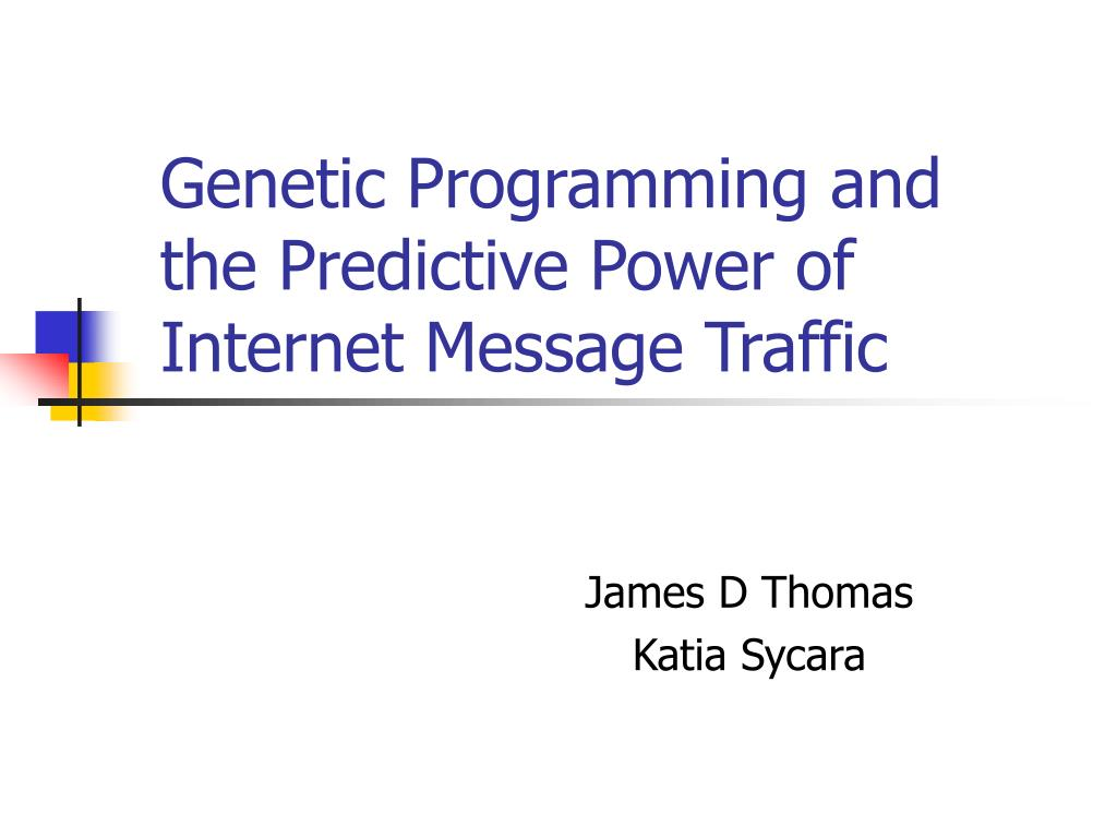 genetic programming and the predictive power of internet message traffic l.