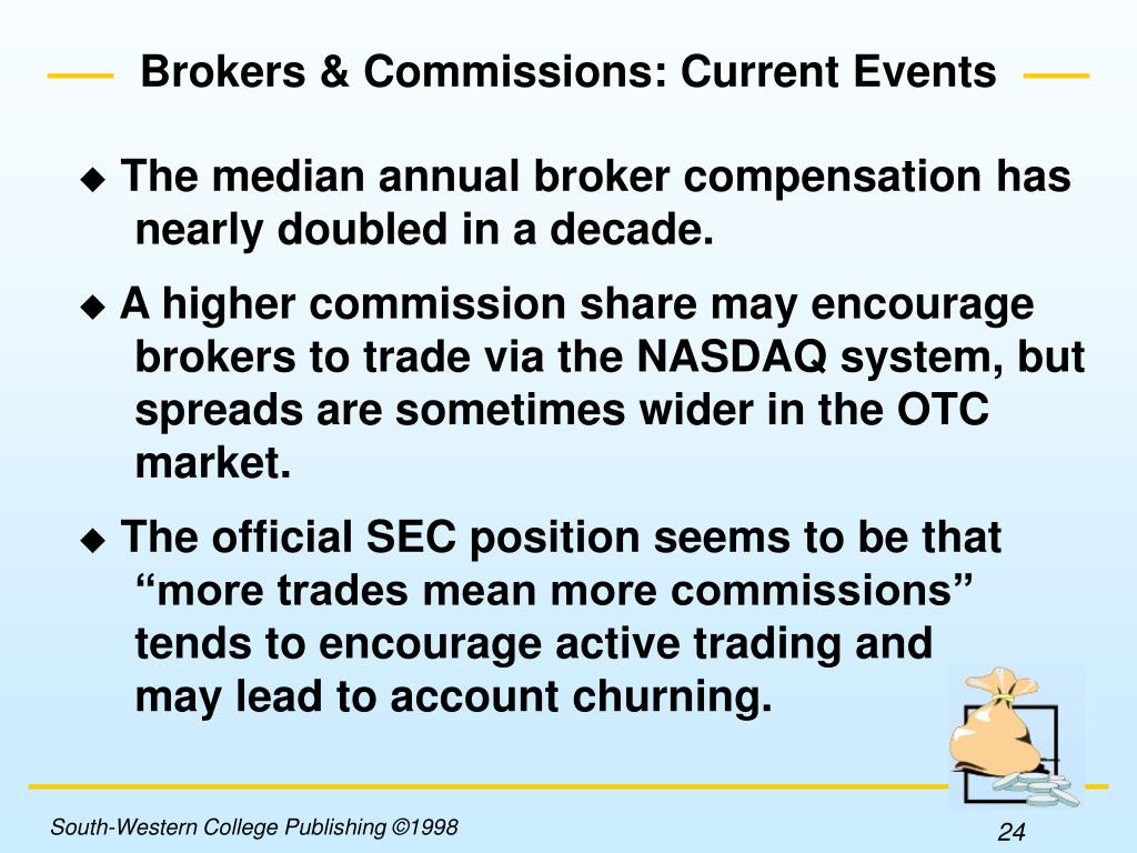 Brokers & Commissions: Current Events