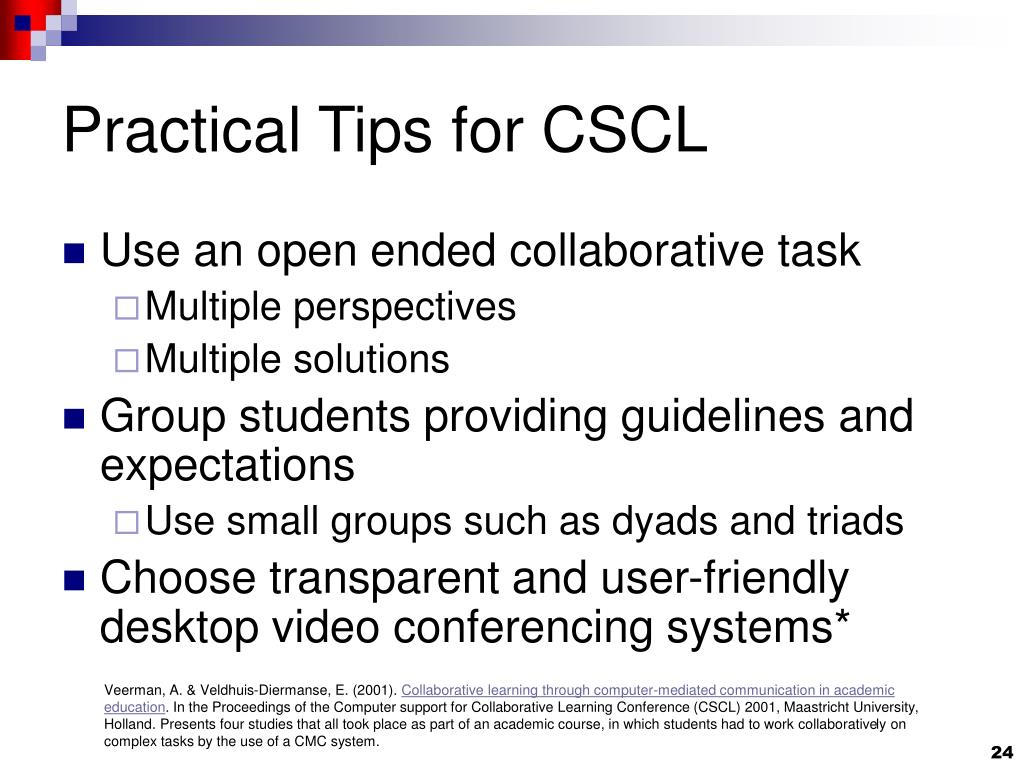 Practical Tips for CSCL