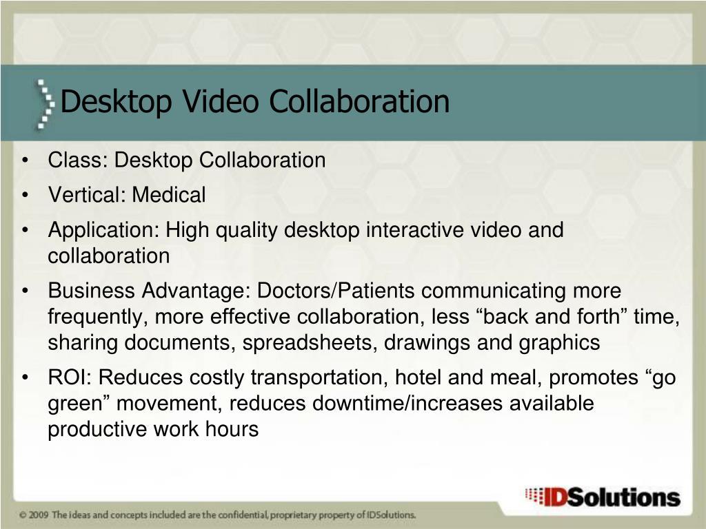 Class: Desktop Collaboration