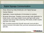 digital signage communication